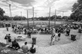 Following a fire that destroyed the grandstand in early April, Tink Larson Field hosted the Waseca Bluejays and Tri-City United Lightning for it's first and final game of the high school season.